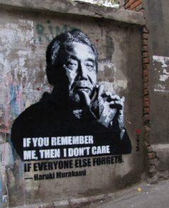 haruki murakami urban art